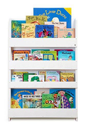 Tidy Books® - Das originale Kinder-Bücherregal in Weiß - Buchcover werden präsentiert - Schmales Regal fürs Kinderzimmer - Ideale Kinderbücher Aufbewahrung - 115 x 77 x 7 cm Bücherregal Book