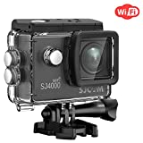 SJCAM SJ4000 WiFi Action Camera, 1080P 30M Waterproof Underwater Camera with Waterproof Case & Accessories Included, Sports Camcorder- Black