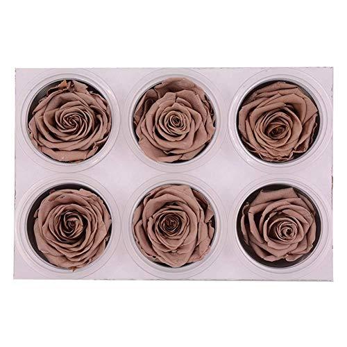 Wovemster handmade eternal 6 rose flower valentines day ornament box il regalo partner ideale per san valentino, anniversario o fidanzamento, marrone
