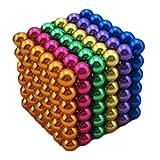 J.Causd Magnete Stark 216 Magnetkugeln 5 MM Magnetische Kugelw�rfel Magnetic Sculpture Schreibtisch Spielzeug f�r Intelligenz Entwicklung Und Stress Lindern Stress Killer Bild