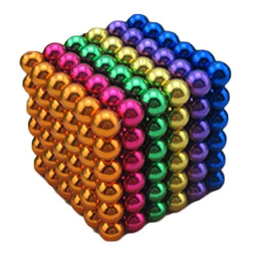 J.Causd Set von 216 Magnetkugeln 5 MM Magnetische Kugelwürfel Magnetic Sculpture Schreibtisch Spielzeug für Intelligenz Entwicklung Und Stress Lindern Stress Killer