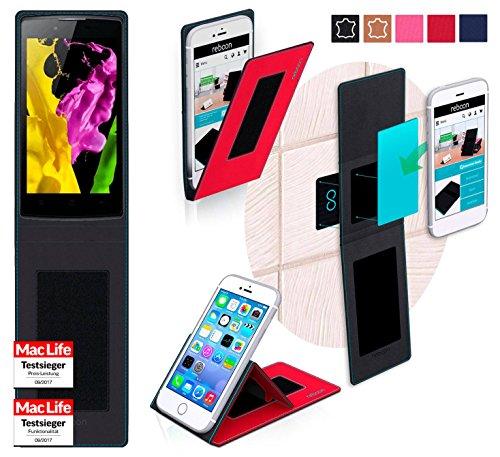 reboon Oppo Neo 5 Hülle Tasche Cover Case Bumper | Rot | Testsieger