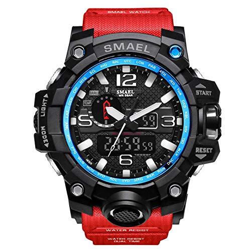 UINGKID Herren Uhr analog Quarz Armbanduhr wasserdicht Uhren Casual Multi-Funktions-Dual Display Dial Outdoor Sportuhr -
