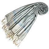 LORENZO CANA Designer Pashmina hochwertiger Marken-Schal jacquard gewebtes Paisley Muster 70 x 180 cm Modal harmonische Farben Schaltuch Schal Tuch
