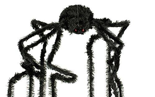 animierte Halloween Deko Riesen Spinne mit hängenden Beinen (Riesen Spinne Halloween Deko)