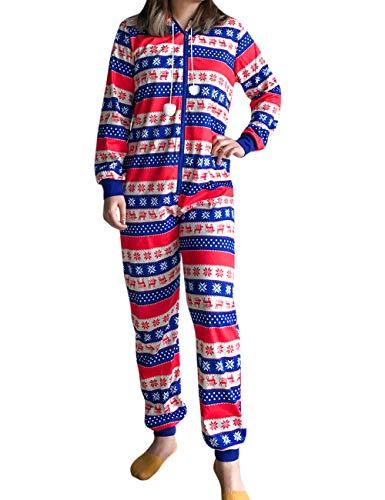 Besbomig Conjunto Pijamas Familiares Navidad Niños
