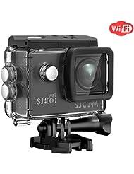 Sport Action Camera,SJCAM SJ4000 Wifi Waterproof Underwater Camera,12MP 1080P 30M Camera with Waterproof Case & Accessories Included (Black)