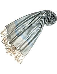 LORENZO CANA Designer Pashmina hochwertiger Markenschal jacquard gewebtes Paisley Muster 70 x 180 cm Modal harmonische Farben Schaltuch Schal Tuch 93218