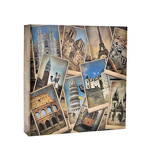 Arpan 10 x 15 cm Vintage collage - UK-European Travel Memo Photo Album for 200 Photos 4 x 6''