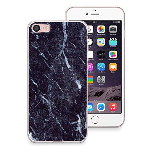 "CasesByLorraine, für iPhone 7 (4.7""), transparentes, flexibles TPU Soft Gel Back Cover | Back Case | Rückenschale | Hülle, Muster Wood Print Coral Pink Geometric Striped (G02) X07"
