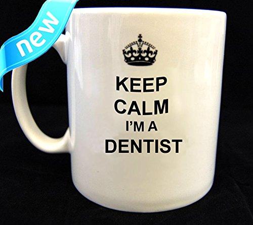 Keep Calm and Carry on dentista taza