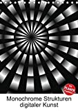Monochrome Strukturen digitaler Kunst (Tischkalender 2018 DIN A5 hoch): Grafiken in Schwarz und Weiß (Planer, 14 Seiten ) (CALVENDO Kunst) [Kalender] [Apr 01, 2017] Sattler, Heidemarie