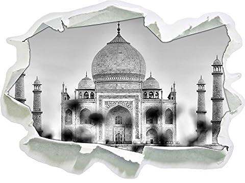Monocrome, Taj Mahal en étéPapier aspect 3D, la taille de la vignette mur ou de porte: 62x45cm, stickers muraux, sticker mural, décoration