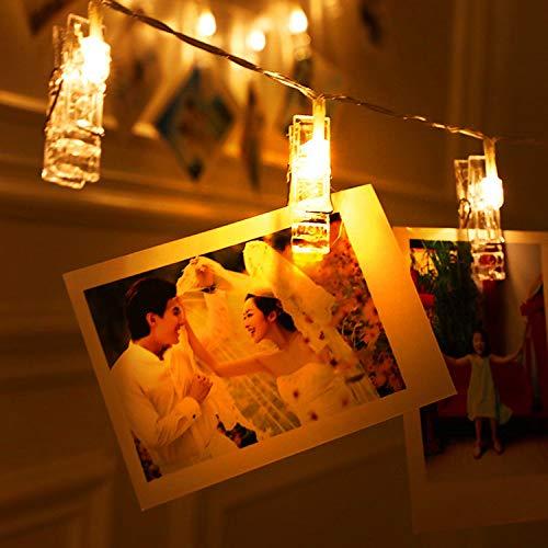 Clip luz cadena luz USB linterna batería sala pared