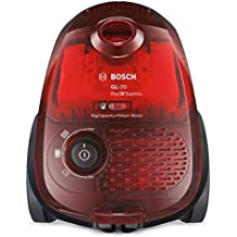 Bosch BGL2UB1108 GL-20 Bag & Bagless - Aspirador sin bolsa, diseño compacto, 600 W, color rojo traslúcido