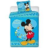2pièces Parure de lit pour enfant 100x 13540x 60Disney 1018Mickey Mouse