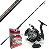 Bolognese Angelrute Artistic 7 m Rolle Shimano Sienna 2500 + Evo Ultrasoft Nylon Clear 200 m 0.18