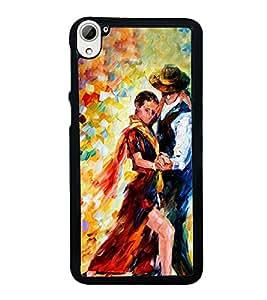 Printvisa Ultra Dancing Couple 2D Hard Polycarbonate Designer Back Case Cover for HTC Desire ...