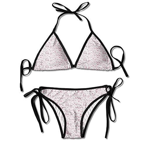 Vintage Tejer patrón de LADY/'S 1950s Cuello Halter Bikini Top /& Shorts.