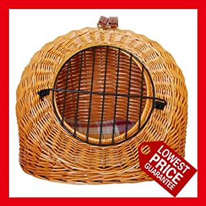 Handmade round wicker pet carrier,cat carrier,dog carrier,wicker basket,lower price or refund difference