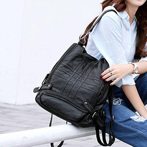 Moda Pelle Di Pecora Di Miss Han Banchao Borse Zaino Casuale Black