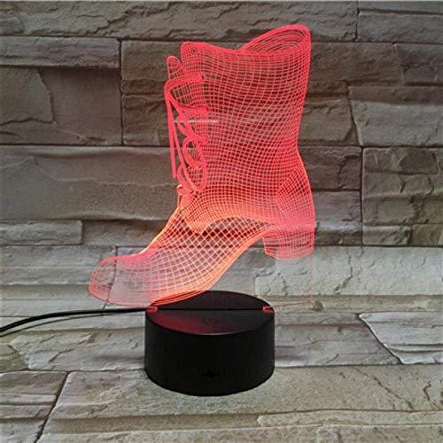 2er Pack, Stiefel 3D Nachtlicht Home Decoration Touch 7 Farbwechsel Illusion Lava Lampe, Weihnachtsgeschenk, Halloween, Neujahr (Weiße Superhelden-stiefel)