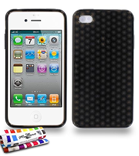 "Coque Semi-Rigide Ultra-Slim APPLE IPHONE 4 / IPHONE 4S [La Sport Case Premium] [Gris perle] de MUZZANO + 3 Films de protection écran ""UltraClear"" + STYLET et CHIFFON MUZZANO® OFFERTS - La Protection  Gris"