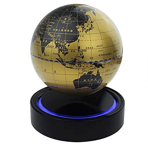 XHHWZB Magnetschwebebahn Magnetschwebebahn Floating Rotating Drahtlose Übertragung Touch Control DREI Gänge Blue Globe Schwarz Plattform LED Anpassung Wohnkultur (Farbe : Style A)
