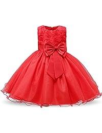 9741fb79c Yukeyy Vestido De Fiesta de Princesa Sin Mangas para Niñas Vestido de Niña  de Las Flores