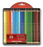 Koh-I-Noor Polycolor 3824/15 24 Farbstifte/Zeichenstifte für Künstler - exclusiv farbig
