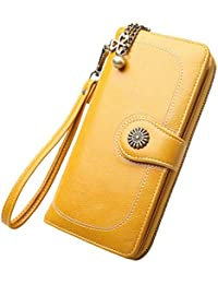 WYHFS New Vintage Button Phone Purses Monederos Mujer Monedero Retro Señoras Largas Cremallera Mujer Monedero Tarjeta Embrague,…