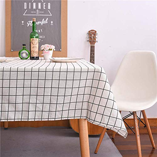 Ecent Mantel de Mesa Rectangular en algodón y Lino 100 x 140 cm para Fiesta Cocina Comedor Mesa Decoración