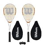 WILSON Impact PRO 500Racchetta da Squash Cover + 3Palline da Squash