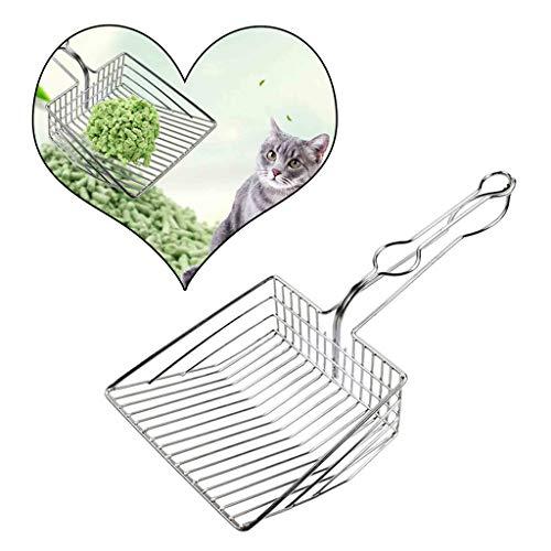 Neu!2 Stück Haustierkatzenstreu-Reinigungsschaufel - 2019 Haustier Katze Toilette Wurf Schaufeln Metall Katzen Reinigungswerkzeug Kätzchen Hohl saubere Schaufel Amhomely® (1PC)