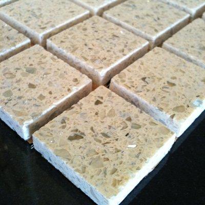 Arabian Cream Quartz Mosaic Tiles (qzm-a-cream)
