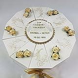 Schachteltorte VINTAGE ELFENBEIN-GOLD Geldgeschenk Torte GOLDENE HOCHZEIT