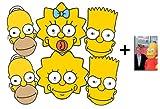 Die Simpsons Karte Partei Gesichtsmasken (Maske) Packung von 6 (Homer x2 , Bart x 2, Maggie und Lisa) - Enthält 6X4 (15X10Cm) starfoto