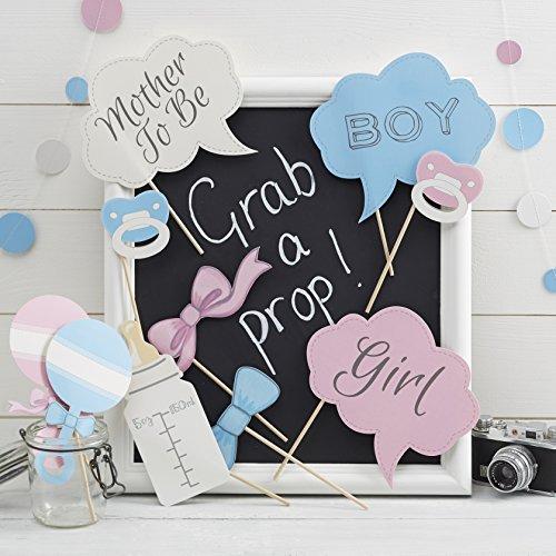he / Gender Zeigen Party Photo Booth Requisiten - kleine Dame oder Mini Mister ()