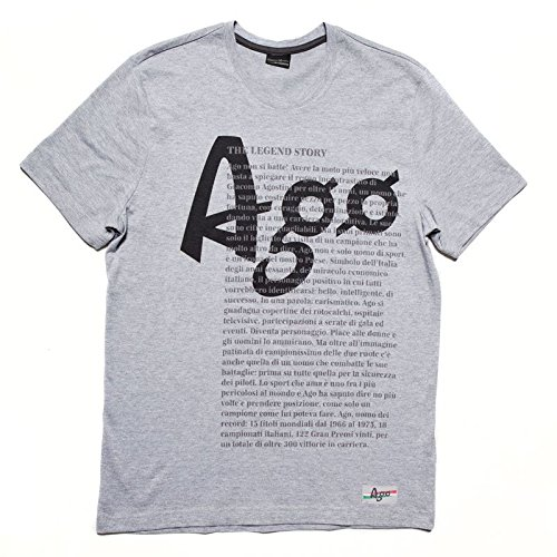T-shirt History Giacomo Agostini, Colore: Oxford Grey, Taglia: XL