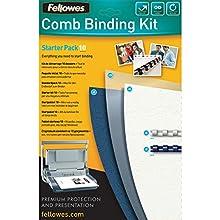 Fellowes Comb Binding Starter Kit - Pack of 10