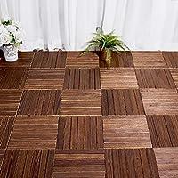 1pc 300x300x22mm piso de madera anticorrosión exterior, baño interior/exterior, ducha y alfombra de piso antideslizante de fondo impermeable.