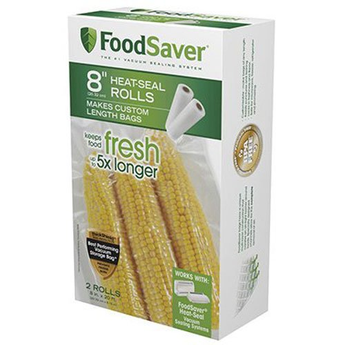 FoodSaver FSFSBF0526-P00 8-Inch Roll Two-pack, 20 Feet Long by FoodSaver
