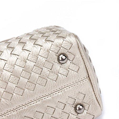 Pacchetto Diagonale Della Spalla Della Borsa Hand-woven Modo Coreano A2