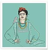 """JUNIQE® Poster 30x30cm Frida Kahlo - Design """"Frida Kahlo"""" (Format: Quadrat) - Bilder, Kunstdrucke & Prints von unabhängigen Künstlern entworfen von Christina Heitmann"""