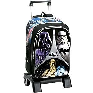 Montichelvo 40712 Star Wars Sac à dos avec chariot à roulettes Noir/gris