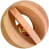 Trixie Holz Lamelle Ball mit Glocke, 6cm