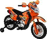 Mondial Toys Moto ELETTRICA per Bambini Enduro Super Cross 6V Colore Arancio