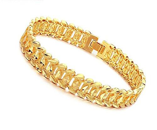 AnaZoz Schmuck Herren Mode Armband Gold 18K Vergoldet Armreif -Gold