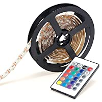 4 Meters Strip Light SMD 5050 RGB Lights with Remote Control, Dimmable LED Strip Kit for TV Desktop PC Hotel Bedroom (Multi Color)