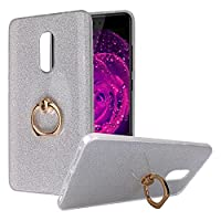 Xiaomi Redmi Note 4 Back Case, Xiaomi Redmi Note 4 Bling Case Cover, Rosa Schleife Sparkle Luxury Bling Glitter Ultra Thin Flexible Soft Gel TPU Rubber Silicone Bumper Kickstand Phone Case Protective Shell Skin Cases Covers with Ring Stand Holder for Xiao